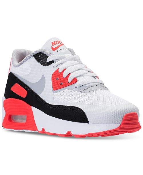 huge selection of 1d855 c1a20 ... Nike Big Boys  Air Max 90 Ultra 2.0 Running Sneakers from Finish ...