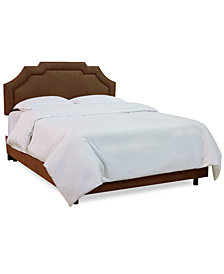 Grant Full Upholstered Border Bed, Quick Ship