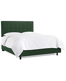 Hawthorne Full Button Bed, Quick Ship