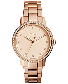 Fossil Women's Neely Rose Gold-Tone Stainless Steel Bracelet Watch 35mm ES4288
