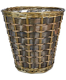 Medium Wicker Lined Waste Basket