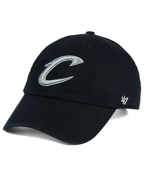 '47 Brand Cleveland Cavaliers Black Gray Clean Up Cap