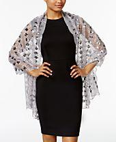 INC International Concepts Diamond Pailette Evening Wrap, Created for Macy's
