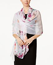 INC International Concepts Degrade Floral Wrap, Created for Macy's