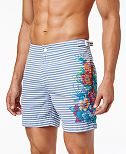 Tommy Hilfiger Men's Vintage Pacific Seersucker Floral Stretch Hybrid Shorts