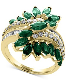 EFFY® Sapphire  (3-1/5 ct. t.w.) & Diamond (3/8 ct. t.w.) Ring in 14k White Gold