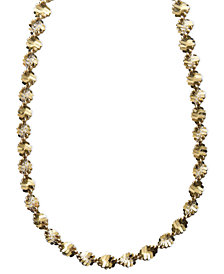"Giani Bernini 24k Gold over Sterling Silver Necklaces, 18-24"" Twist Link Chain"