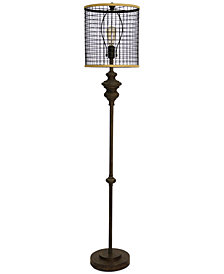 StyleCraft Mesh Shade Floor Lamp