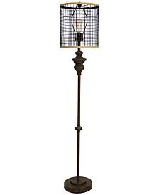 StyleCraft Mesh Shade Floor Lamp