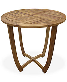 Darra Outdoor Round Accent Table, Quick Ship