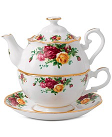 Old Country Roses Tea For One Set