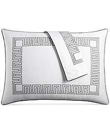 Hotel Collection Greek Key Cotton King Sham, Created for Macy's