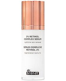 dr. brandt 2% Retinol Complex Serum Nighttime Skin Renewal, 1.0 oz.