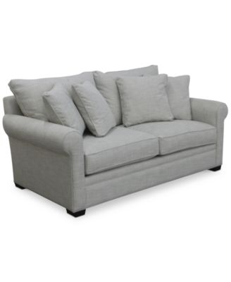 dial ii full sleeper sofa with 4 toss pillows