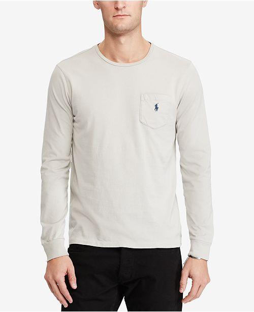 Lauren Long Shirt Polo Custom T Slim Men's Ralph Sleeve Fit rdsxotBhQC