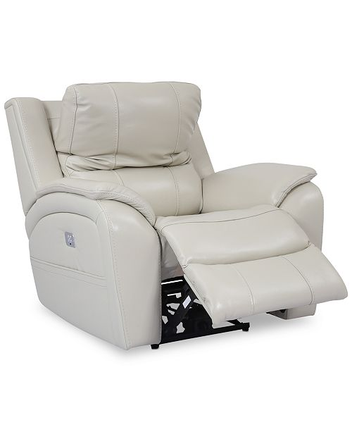 Furniture Karuse Leather Power Recliner With Power Headrest And Usb
