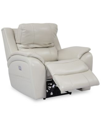 Karuse Leather Power Recliner with Power Headrest and USB Power Outlet. Furniture  sc 1 st  Macyu0027s : electric recliner chairs - islam-shia.org
