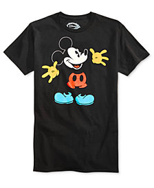 Hybrid Men's Mickey Mouse Graphic-Print Cotton T-Shirt