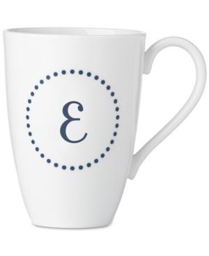 Lenox Navy Dots Monogram Mug