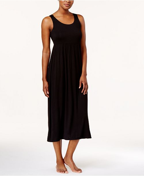 Alfani Crochet-Back Knit Nightgown, Created for Macy's