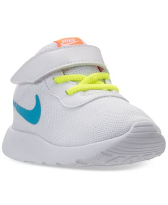 Image of Nike Toddler Girls' Tanjun stay-put closure Casual Sneakers from Finish Line