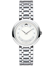 Women's Swiss Diamond-Accent 1881 Quartz Stainless Steel Bracelet Watch 28mm