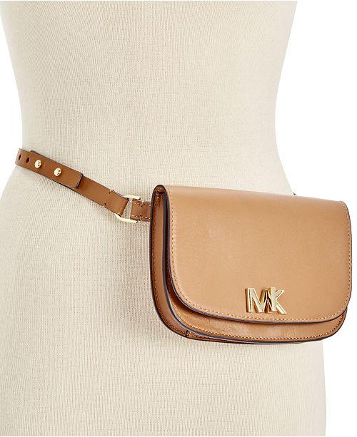 f6811093abba5f Michael Kors Leather Turnlock Fanny Pack & Reviews - Handbags ...