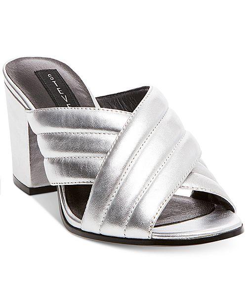 f47291e2905 STEVEN by Steve Madden Women s Zada Slide-On Block-Heel Sandals ...