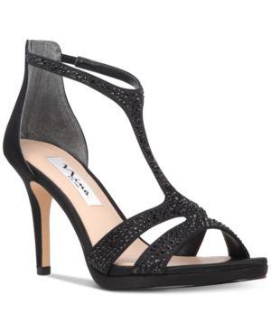Nina Brietta T-Strap Evening Sandals Women's Shoes 4635058