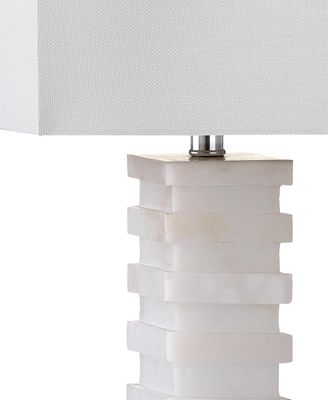 Safavieh Cinder White Marble Table Lamp Lighting Lamps Home