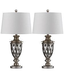 Safavieh Set of 2 Byron Urn Platinum-Tone Table Lamps