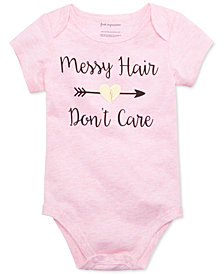 First Impressions Messy Hair Don't Care Bodysuit, Baby Girls, Created for Macy's
