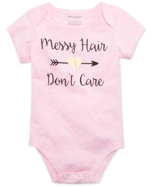 First Impressions Baby Girls Messy Hair Dont Care Bodysuit Created for Macys