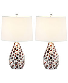 Safavieh Set of 2 Lauralie Capiz Table Lamps