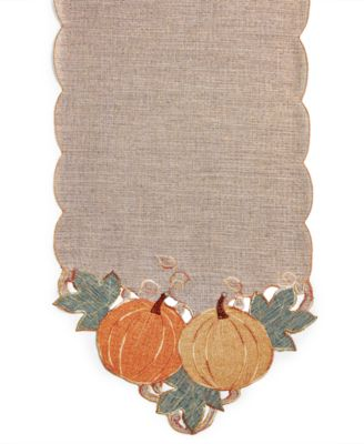 "Pumpkin Gardenia 72"" Table Runner"
