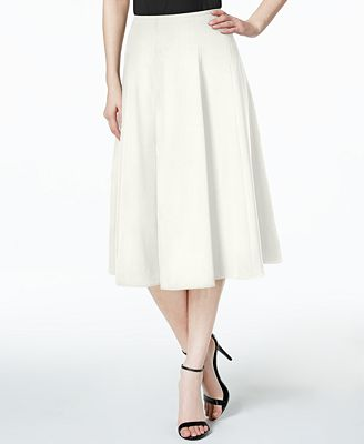 Calvin Klein Pleated A-Line Skirt - Women - Macy's