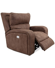 CLOSEOUT! Brant Fabric Power Recliner with Power Headrest and USB Power Outlet