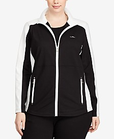 Lauren Ralph Lauren Plus Size Front-Zip Active Jacket