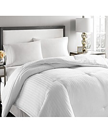 500-Thread Count Damask Stripe White Down Comforter