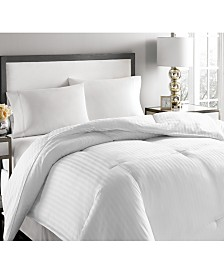Blue Ridge 500-Thread Count Damask Stripe White Down Comforter