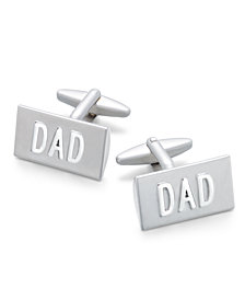 "Sutton by Rhona Sutton Men's Silver-Tone ""Dad"" Cuff Links"