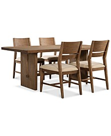 CLOSEOUT! Athena 5-Pc. Dining Set (Dining Trestle Table & 4 Side Chairs)