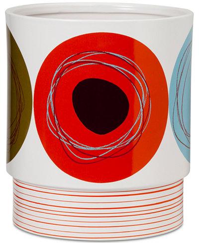 Creative Bath Dot Swirl Wastebasket