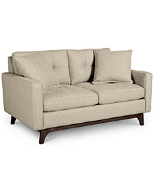 "Nari 58"" Fabric Tufted Loveseat - Custom Colors, Created for Macy's"