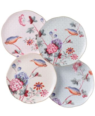 Set of 4 Cuckoo Tea Plates