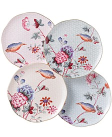 Set of 4 Cuckoo Tea Plates
