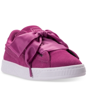 Puma Little Girls Suede Heart Casual Sneakers from Finish Line