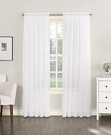 "No. 918 Sheer Voile 59"" x 63"" Rod Pocket Curtain Panel"