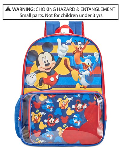 Mickey Mouse Backpack & Lunch Bag, Little Boys (2-7) & Big Boys (8-20)