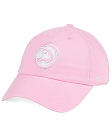 '47 Brand Women's Atlanta Hawks Petal Pink CLEAN UP Cap